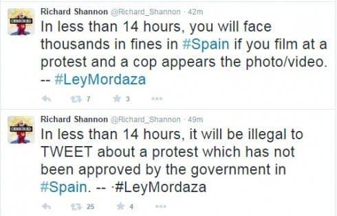 ley mordaza tweets