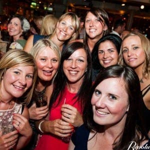 VICTIMS: This hen party from Manchester lost thousands of euros to the Staffords