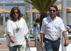 Ana Botella and her husband the former Prime Minister of Spain
