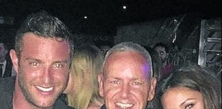 Elliott with michelle in Cavalli club banus