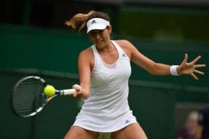 TENNIS: Spain's Garbine Muguruza