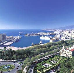 The Malaga port