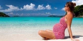 preggie on beach
