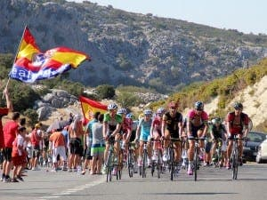 RONDA: The  Vuelta a España on the stage to Ronda in 2014. Photography by Karl Smallman