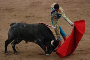 The town cancelled its annual bullfighting festival