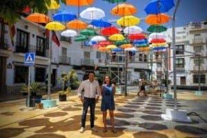 Shaded plaza