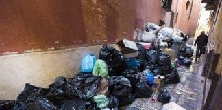 Vista de la basura acumulada e