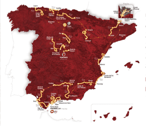 The Vuelta route
