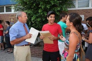Gibraltar students receiving results