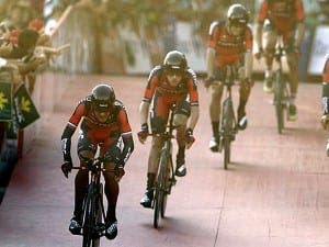 American cycling team BMC Racing won yesterday's team trial on the opening stage of the Vuelta a Espana from Puerto Banus to Marbella