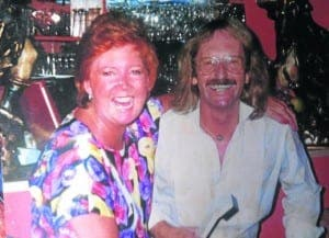 Cilla with restaurant owner and friend Robbie Anderson