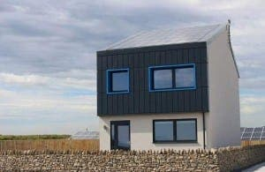 The sleek house produces more energy than it uses