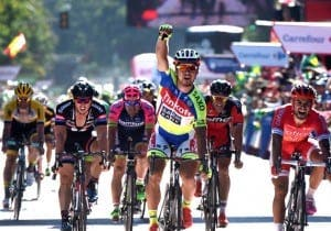 Peter Sagan (TCS) wins the 3rd stage of the Vuelta a España 2015 © Graham Watson / Unipublic