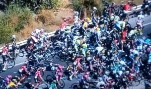 VUELTA A ESPANA 2015: The race was smoothly riding to its finish when a massive crash occurred at km 129