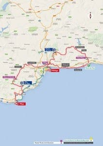 The Vuelta a Espana - stage three from Mijas to Malaga. Click to enlarge image