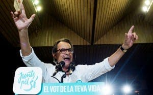ARTUR MAS: Pro-Independence leader celebrates election victory