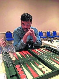 CHAMP: World backgammon champion Turkish Ali Cihangir Cetinel is set for the Rock