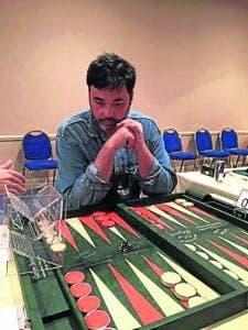 CHAMP: World backgammon champion Turkish Ali Cihangir Cetinel is set for the Rock