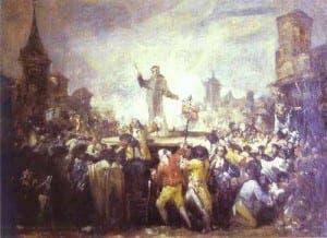 Francisco Goya's Motin de Esquilache