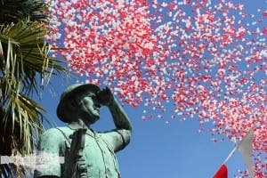 Gibraltar National Day balloons. Photo: travellersinkblog.com