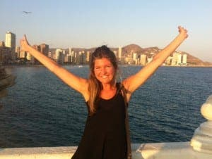 Olive Press reporter Iona Napier in Benidorm