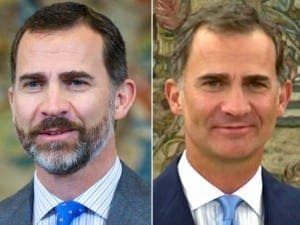 SPAIN'S KING FELIPE: Before... and after