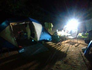 LET THERE BE LIGHT: Our family is new to camping, in fact we only discovered it late in the Summer and so have had just a couple of weeks in which to enjoy our new favourite pastime
