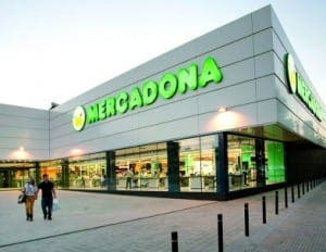 Mercadona supermarket in Spain