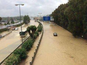 motorway flood