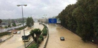 motorway flood
