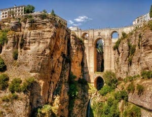 RONDA: The Parador looks over the iconic bridge and gorge