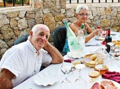 Peter and Jean Tarsey relaxing in Spain