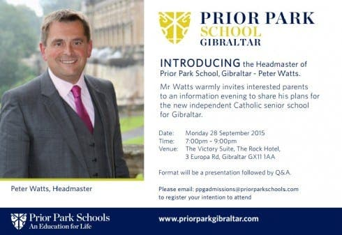 Prior Park Gibraltar meet the new headmaster