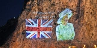 The Queen on the Rock of Gibraltar