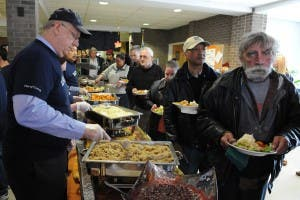 Soup kitchen feeds the hungry