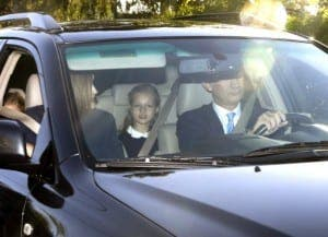 First day back to school for the princesses of Spain