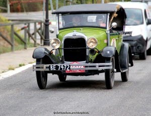 VINTAGE: 1928 Ford A with Nicholas and Barbara Phillips (GB) onboard