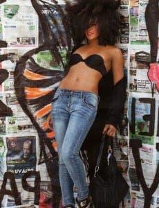 Model Isla Rose Ferguson shows off the latest looks