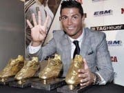 Cristiano Ronaldo celebrates Golden Boot win