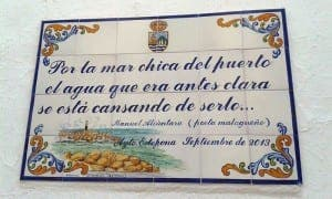 ESTEPONA TOP TEN: Poetry plaques