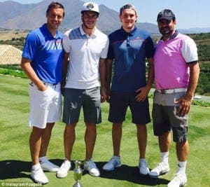 Gareth Bale and friends on a Costa del Sol golf course
