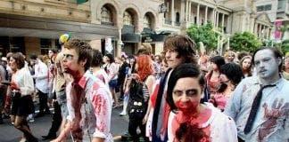 halloween zombie parade e