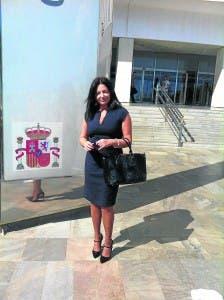 Lola Gomez outside Malaga court