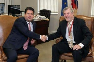 Fabian Picardo with Resolve Marine Group CEO Joe Farrell
