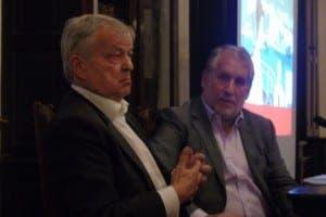 City AM co-founder Jens Torpe with former Independent editor Simon Kelner