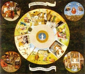 Hieronymus Bosch's Table of the Seven Deadly Sins