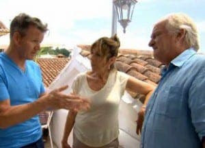 Gordon Ramsay with Gina and Milan Varmuza