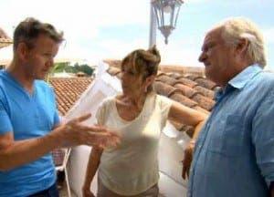 Gordon Ramsay with Gina and Milan Varmuza