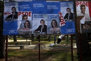 ELECTION FEVER: Posters for PSOE, Ciudadanos and PP