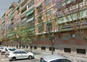 Calle Enrique Madrid, Alicante. Photo: Google Earth